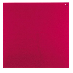 FRANKEN Glas-Magnettafel 45,0 x 45,0 cm rot