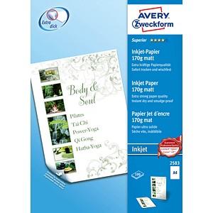 AVERY Zweckform Fotopapier 2583 DIN A4 matt 170 g/qm 100 Blatt