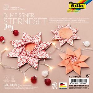folia Faltblätter Meissner-Sterne-Set Joy