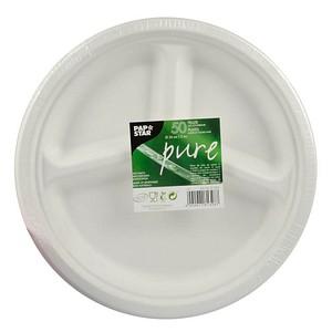 50 PAPSTAR Zuckerrohr-Teller pure
