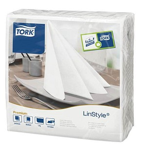 50 TORK Servietten LinStyle® Premium weiß