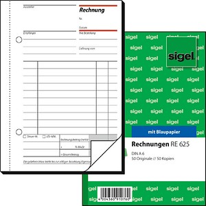 SIGEL Formularbuch RE625 Rechnung
