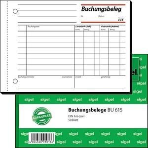 SIGEL Formularbuch BU615 Buchungsbeleg