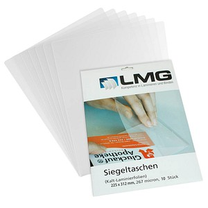 10 LMG Kaltlaminierfolien glänzend für A4