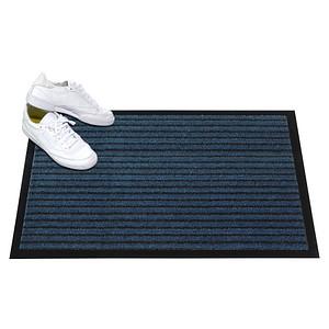 Mercury Fußmatte Grattant blau gemustert