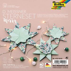 folia Faltblätter Meissner-Sterne-Set Merry