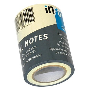 inFO Ersatzrolle Roll-Notes 5620-01 gelb 1 Rolle