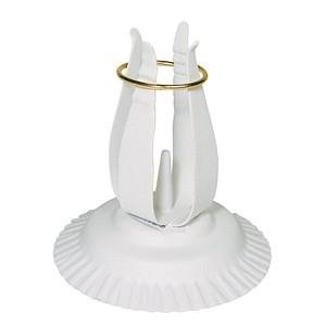 Rayher KerzenständerFür Kommunion- und Taufkerzen mit 3,0-4,0 cm weiß 2514202