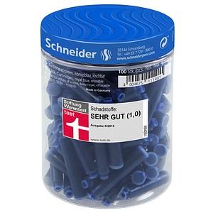 Schneider Tintenpatronen für Füller blau 100 St.