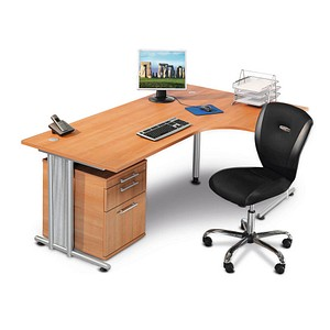 HAMMERBACHER Prokura Büromöbel-Set buche L-Form