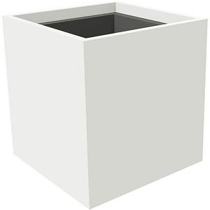 fm Plant Pflanzkübel Holz 38,0 x 38,0 x 40,0 cm weiß