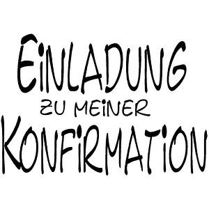 Rayher Motivstempel EINLADUNG ZU MEINER KONFIRMATION 28393000