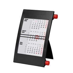 neutral Tischkalender Drehkalender 2021/2022 schwarz/rot