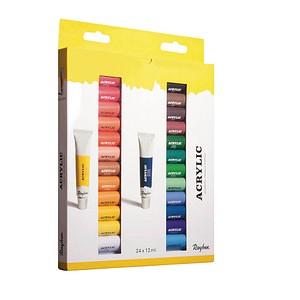Rayher Künstler-Set mit 24 Farben Acrylfarben farbsortiert 24 x 12,0 ml, 24 St. 38926000