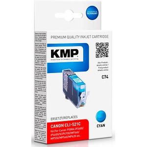 KMP C74 cyan Tintenpatrone ersetzt Canon CLI-521 C