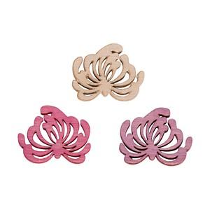 24 Rayher Holz-Streudeko Lotusblüten 46157000