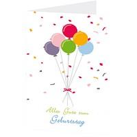 """Grußkarte """"Alles Gute zum Geburtstag"""" im Luftballon-Design (DIN B6, 4-seitig, mit Umschlag)"""