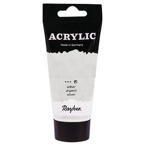 Rayher Acrylic Acrylfarben silber 75,0 ml, 1 St. 38912606