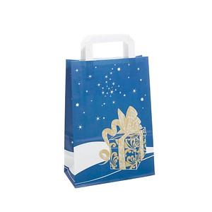neutral 250 Geschenktaschen Weihnachtsgeschenk blau 1FTTC020039