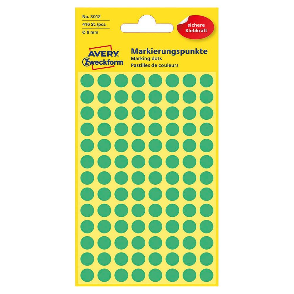 Avery Zweckform Klebepunkte Markierungspunkte Etiketten Ø 8,0mm 416 Stück bunt!