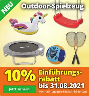 10% Rabatt auf Outdoor-Spielzeug