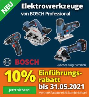 10% Rabatt auf Bosch Elektrowerkzeuge