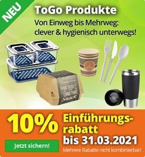 10% Rabatt auf To Go Produkte