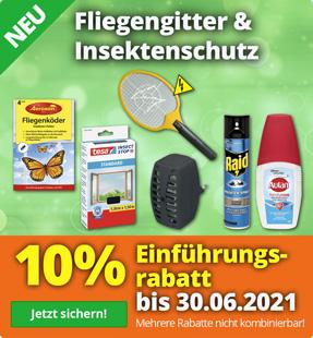 10% Rabatt auf Insektenschutz