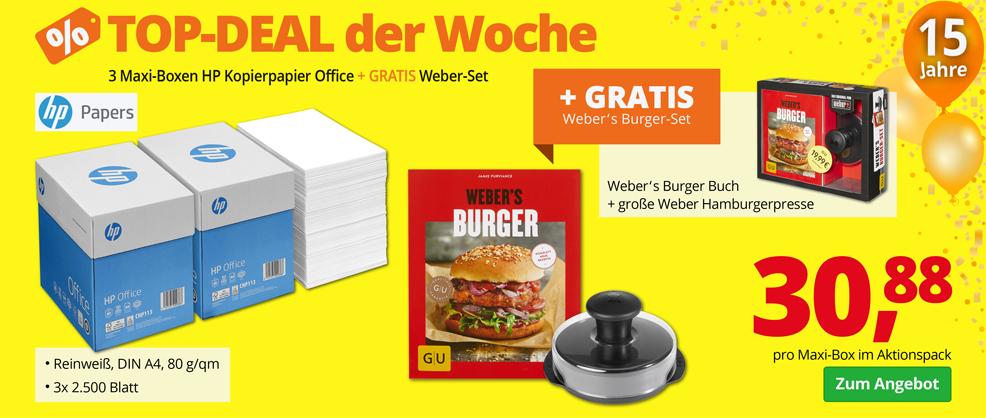 Kopierpapier + GRATIS Burger-Set