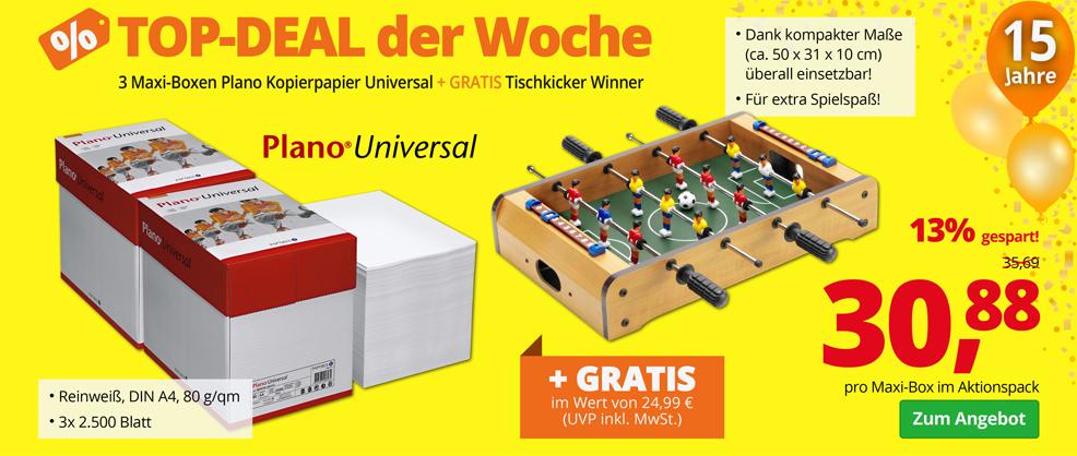Kopierpapier + GRATIS Tischkicker